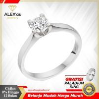 cincin berlian Classic ring natural diamond emas 18k AXSVVS5635
