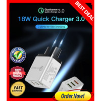 FAST CHARGER HANDPHONE 3 port USB Universal Adaptor QUICK CHARGING