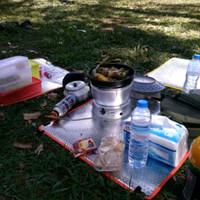 alas duduk mat foil camping outdoor hiking tenda climbing trangia