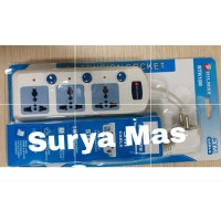 stop kontak extension 3 lubang switch + kabel 3 m Stopkontak universal