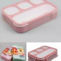 Kotak Makan Lunch Box Yooyee Anti Tumpah Sekat 4