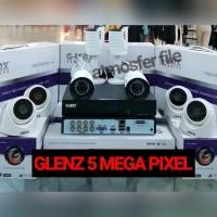 PAKET CCTV GLENZ 8CH 5MP ULTRA HD + HDD 1TB KOMPLIT