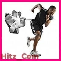 Speed Chute Parasut Latihan Lari Black