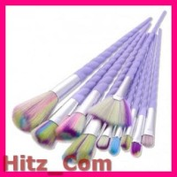 Unicorn Brush Make Up 10 Set Purple