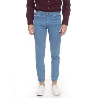 2Nd RED Jogger Jeans Pria Bahan Elastis Biru Muda 112607