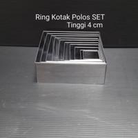 RING KOTAK POLOS CETAKAN KUE RING CUTTER KOTAK CAKE STAINLESS RINGKTKS