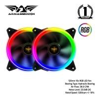 Armaggeddon Nimitz Loop 12cm RGB Light PC Cooling Fan Twin Pack