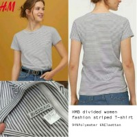 HMB divided Women fashion Striped T-shirt