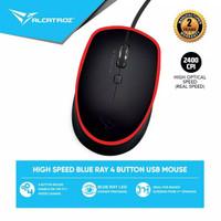 Alcatroz Mouse Wired Asic Pro 2 ( 2400 CPI) 2 Tahun Garansi Resmi - Black Red
