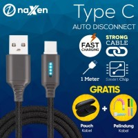 Kabel Auto Disconnect Type C Naxen Data Cable Fast Charging