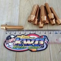Baut Probolt Kerucut Gold M8x3,5 ( baut drat 12 panjang 3,5 )