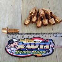 asesoris Baut Probolt Kerucut Gold M8x20 ( baut drat 12 panjang 2 cm )