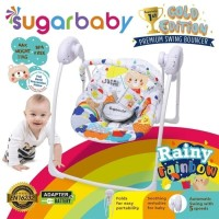 Makassar Promo! Sugar Baby Gold Edition Premium Swing Bouncer - Rainy Rainbow