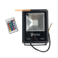 Lampu LED Sorot 20W RGB Warna Warni Flood Light Tembak 20 W Watt