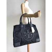 TB ELLA STUD NYLON TOTE MEDIUM Black