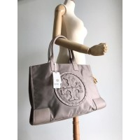 TB ELLA STUD NYLON TOTE MEDIUM Grey