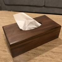 walnut tissue box    tisu box kayu    tempat tisu kotak tisu