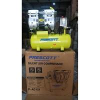 Kompresor Angin Listrik Silent Tanpa Suara 0.75HP 10Lt Oiless PRESCOTT