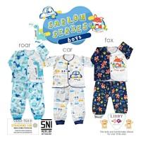 LIBBY Setelan Baju Panjang & Celana Panjang 3-6 Bulan (SABLON BOYS)