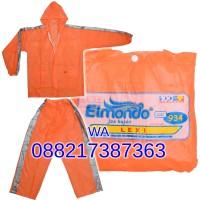 All Size Jas hujan Jaket Celana Elmondo LEXI warna Orange