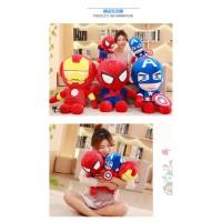 Boneka Hero Plush Model Avengers Spiderman Ironman untuk Hadiah