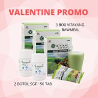 PROMO VALENTINE 3 Box VITAYANG Raw Meal + 2 Botol SGF @150 Tab
