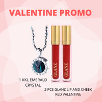 PROMO VALENTINE 1 KKL Emerald Crystal + 2 Pcs Glanz Lip&Cheek Cream