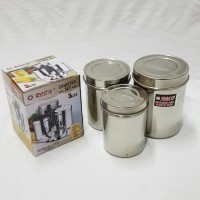 Rosh Canister Set Tempat Toples Stainless 3set