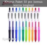 Paket 10 Pcs Warna Pulpen Zebra Kokoro Gel Pen Sekolah