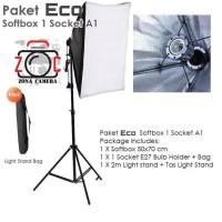 Paket Lighting Studio Foto Komplit Light Stand Video continous E27 Kit