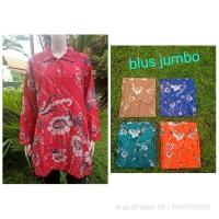 blus batik jumbo - atasan batik wanita size jumbo