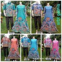 sarimbit gamis batik - couple gamis batik harga grosir