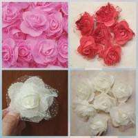isi 3 bunga aplikasi flanel mawar CH742