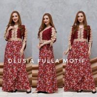 Daster Arab Fulla Motif by Dlusia Original / Baju Wanita / Baju Tidur