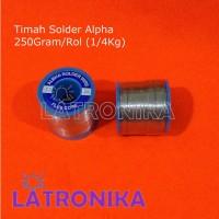 Timah Solder Alpha 250Gr Timah Alpha Roll Besar 1/4kg 60/40% 0.8mm