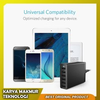 Adaptor Charger Fast Charging ANKER 6 USB Port Quick Charge QC 3.0
