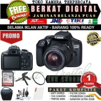 NEW CANON 1300D KIT 18-55MM GARANSI 1TH BERKATKAMERA 3000D 1200D 4000D