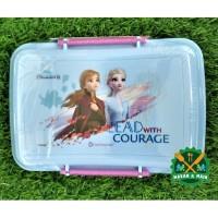 Kotak Makan Lunch Box Technoplast Seri Frozen SW 871 DFMV 2 BPA Free