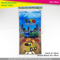 Plastik Ulang Tahun Tayo Snack Souvenir Ultah Goodie Bag