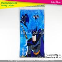 Plastik Ulang Tahun Batman Snack Souvenir Ultah Goodie Bag
