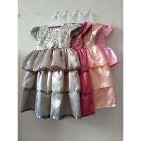 Baju Anak Perempuan 4-8 tahun Dress Pesta KA61 - Pink, 4-5 Tahun