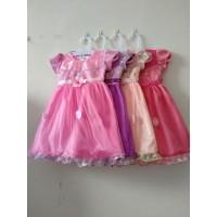 DRESS Anak Perempuan 2-4 tahun Dress Princess Gaun Pesta Promo KA62 - peach, All Size