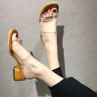 Sepatu sandal sendal wanita hak tahu big high heels dl 58