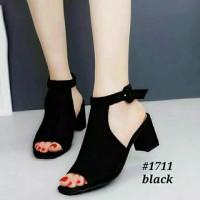 Sepatu sandal sendal wanita hak tahu big high heels suede ag 42