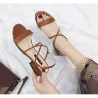 Sepatu sandal sendal hak tahu big high heels us46