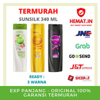 sunsilk shampo 340 ml ready 3 warna black shine, soft & smooth, hijab