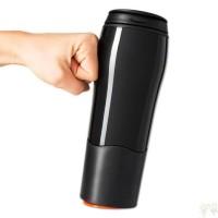 HITAM Mighty Mug / Botol Ajaib Anti Tumpah Termos Gelas Tumbler H331 -