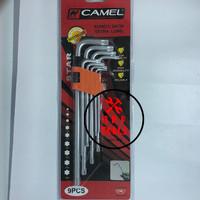 "Kunci L Panjang Set Bintang / Kunci L Star CAMEL"" XL (9 pcs)"