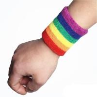 Deker Pergelangan Tangan Pelangi Untuk Olahraga / Wristband Pelangi