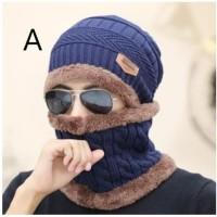 Paket Topi dan Syal Musim Dingin Untuk Pria dan Wanita